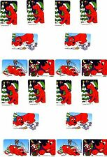 Clifford the BIG RED Dog Xmas Christmas Snow Winter 20 LARGE Stickers!