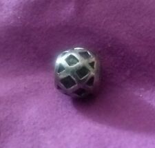 NEW!! WEB Pattern Sterling Silver Biagi Beads Charm BEAD LARGE HOLE FP4262