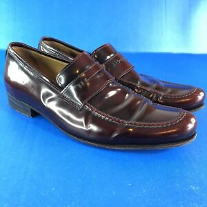 BILLY REID mens sz 9 Leather Penny Loafers dress casual shoes Hand Made In Italy
