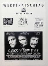 GANGS OF NEW YORK original Werberatschlag 2003