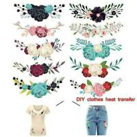 10pcs Flower Iron On Heat Transfers Patches for Clothing T-shirt DIY Applique AU