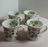 Vintage Set of 4 Cups James Kent Old Foley China Strawberry Butterfly England