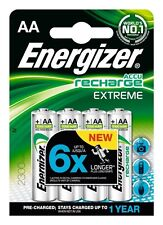 Energizer AA Extreme Pre Charged Rechargeable Batteries 2300 mAh NI-MH 4 PACK