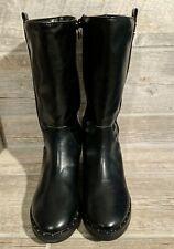 Girls Black Riding Boots Studded Shoes Size 4 Wonder Nation