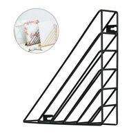 Black Wall Mounted Book Shelf Storage Rack Triangle Hanging Holder Organizer New