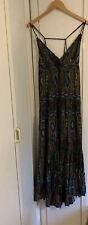 Next Blue Aztec Size 10 Maxi Dress Summer Beach