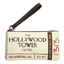 Disney's Hollywood Hotel Tower of Terror Canvas Wristlet Bag, NEW