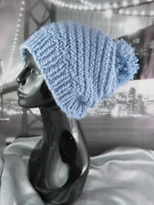 PRINTED INSTRUCTIONS-SUPERFAST SWIRL SLOUCH BOBBLE HAT CIRCULAR KNITTING PATTERN