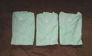 3 pc Unisex Children S/S Pediatric Pajama Top Green 100% Polyester Size Large