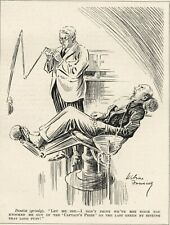 "RARE 1934 PUNCH CARTOON - DENTIST / DENTISTRY HUMOR - ""Knocked out"""