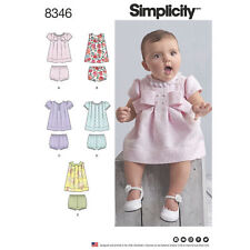 Simplicity SEWING PATTERN 8346 Babies Dress & Panties XXS-L