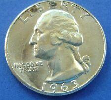 USA - Amerika 1963 Washington Quarter Dollar, 25 cents. Silver.
