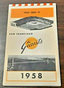 1958 San Francisco Giants Press-Radio-TV Media Guide (First Year in SF)