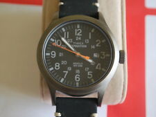 Nice TIMEX Expedition Indiglo Men's Military Watch w/Date & Orange Sec Hand