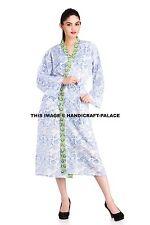 FLORAL COTTON ROBE Kimono Women Dressing Gown Vintage Wedding Bridesmaid