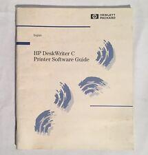 Vintage HP Hewlett Packard DeskWriter C Printer Software Guide MANUAL Apple Mac