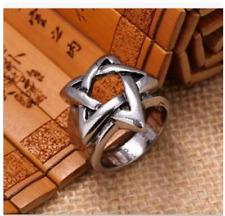 Men pentagram titanium steel ring personality single fashion index finger ring