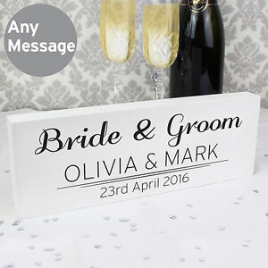 PERSONALISED Wedding Top Table Decoration Mr Mrs Ornament Sign UNIQUE GIFT IDEA