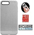 Incase iPhone 8 Plus & 7 plus Textured Snap Rugged ShockProof Case Cover - Grey