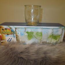 Margaritaville Jimmy Buffett Old Fashion On Rocks 13Oz Drinking Glasses-Set 4