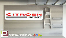 Citroen Sport Workshop Garage Banner Saxo, VTR, VTS, C2, C3, C4, 2CV