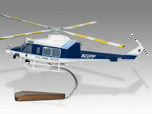 Bell 412 EP United States Park Police Eagle Handcrafted Display Helicopter Model