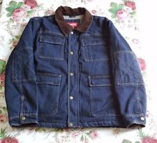 Wrangler Men Blue Denim Sherpa Heavy Duty Jacket Size XL