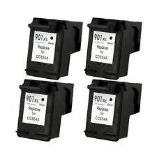 901XL BK (CC654AN) Compatible Ink Cartridges 4PK For HP Officejet J4500 J4540