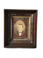 VICTORIAN WALNUT FRAME WITH MOTHER OF PEARL & GRAIN PAINTED ZEBRA WOOD DESIGN