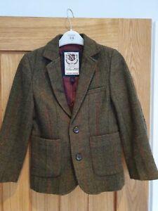 Next Boys Green Tweed Blazer Jacket,Age 6,EXC C