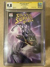 Silver Surfer: Black #1 Signed By Clayton Crain CGC 9.8 [Signature Series]