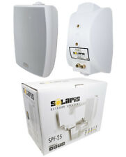 2x 5.25 240W 2-Way Surface-Mount C Clamp Outdoor Speaker Home Audio White