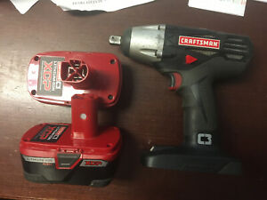"""Craftsman 19.2V C3 1/2"""" Impact Wrench (2) 4aH Batteries and Charger."""