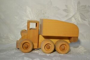NEW Handcrafted Wooden Toy Dump Truck