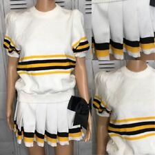 Real Cheerleading Uniform Vintage Plain Adult xs Puff Sleeve