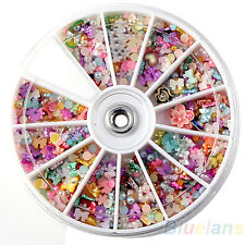 500Pcs Mixed Flat Back Round Faux Pearl Bead Bow DIY Nail Art Tip Decorations