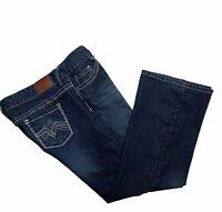 Maurices jeans womens size 15/16 Short straight stretch denim heavy stitch blue