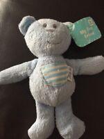 SAINSBURYS blue Bunny Rabbit My First Friend Comforter Soft cuddly plush Toy b2
