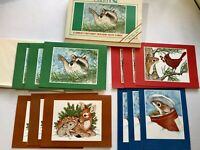 LOT 12 Blank Notes Card Critters Animals Raccoon Mouse Deer Cardinal Bird