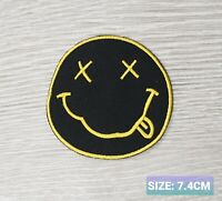 NIRVANA  ROCK MUSIC BAND LOGO EMBROIDERED APPLIQUE IRON / SEW ON PATCHES
