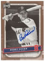 BOBBY DOERR 2005 Upper Deck Classics SIGNED AUTOGRAPHED Red Sox Baseball Card