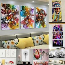 Divers Peinture à l'Huile Tableau Abstraite Art Moderne sur Toile Salon Mural
