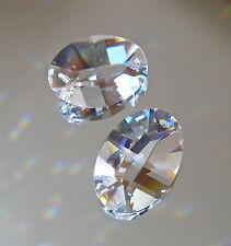 Swarovski Crystal Two 24mm Oval Prism Ornaments Sun Catchers Pendants, logo