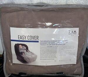 7A.M. Enfant Easy Cover / Sleeved Blk. / C.seat - Stroller / Sz.3-6y/ Fleece
