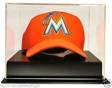 Baseball Cap Display Case With Acrylic Base Free Name Plate