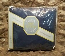 Cotton Luxury Navy King Size Bed Ruffle