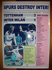 Tottenham Hotspur 3 INTER MILAN 1 - 2010 CHAMPIONS LEAGUE-stampa souvenir