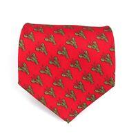 """Utopia Men's Tie Handmade Red Green Lobster Sea Life Animal Necktie 56"""" NEW"""