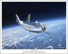 """NASA Hl-10 Lifting Body Aviation Art Print - 11"""" x 14"""""""