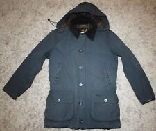 Barbour LONGHURST Waxed Jacket in Navy Blue - Small [4032]